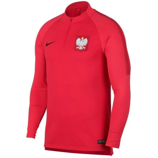 Sweat Foot Pologne 2018/2019 Coupe du Monde Homme Rouge