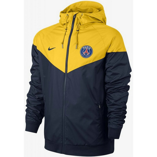Veste Foot PSG Paris Saint Germain 2017/2018 Homme Jaune