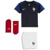 Ensemble Foot Equipe de France Bébé Domicile 2018/2019 Coupe du Monde à Petit Prix