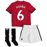 Ensemble Foot Manchester United Enfant POGBA 2017/2018 Domicile Pas Chere