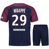 Ensemble Foot PSG Paris Saint Germain MBAPPE Junior 2017/2018 Domicile Réduction Prix