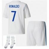 Nouvelle Ensemble Foot Real Madrid Enfant RONALDO 2017/2018 Domicile