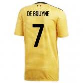 Maillot Belgique DE BRUYNE Extérieur 2018/2019 Coupe du Monde Vendre Cannes