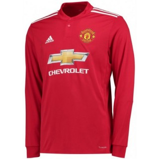 Soldes Maillot Manchester United 2017/2018 Domicile Manches Longues