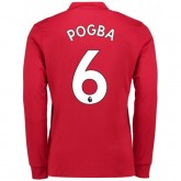 Collection Maillot Manchester United POGBA 2017/2018 Domicile Manches Longues Soldes
