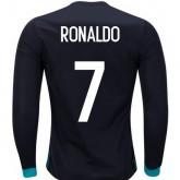 FR Maillot Real Madrid RONALDO 2017/2018 Extérieur Manches Longues