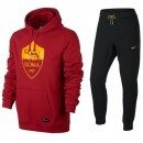 La Collection 2018 Survetement Football AS Roma 2017/2018 Capuche Homme Noir