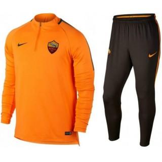 Vente Privée Survetement Football AS Roma 2017/2018 Homme Orange