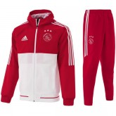 Vente Survetement Football Ajax 2017/2018 Capuche Homme Rouge