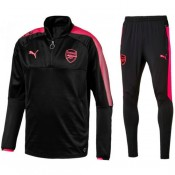 Nouvelle Survetement Football Arsenal 2017/2018 Homme Noir-Rose