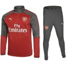 Boutique Survetement Football Arsenal 2017/2018 Homme Rouge-Gris En Ligne