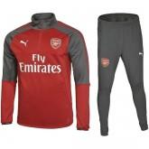 Boutique Survetement Football Arsenal 2017/2018 Homme Rouge-Gris En Ligne