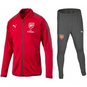 Survetement Football Arsenal 2017/2018 Homme Rouge-Gris Vendre Paris