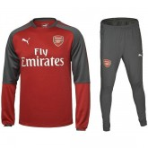 Original Survetement Football Arsenal Enfant 2017/2018 Rouge-Gris