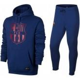 Survetement Football Barcelone 2017/2018 Capuche Homme Bleu Magasin De Sortie
