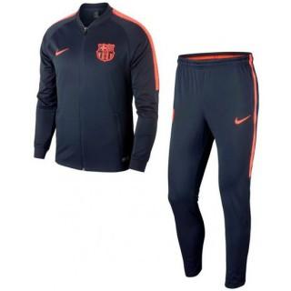 Acheter des Nouveau Survetement Football Barcelone 2017/2018 Homme Marine-Orange