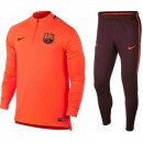 Survetement Football Barcelone 2017/2018 Homme Orange Soldes Provence