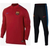 Survetement Football Barcelone 2017/2018 Homme Rouge Rabais prix