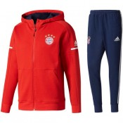 Survetement Football Bayern 2017/2018 Capuche Homme Rouge Soldes France