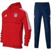 Nouvelle Collection Survetement Football Bayern 2017/2018 Capuche Homme Rouge