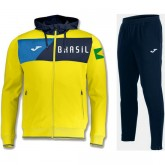 Survetement Football Bresil 2018/2019 Capuche Homme Jaune Boutique