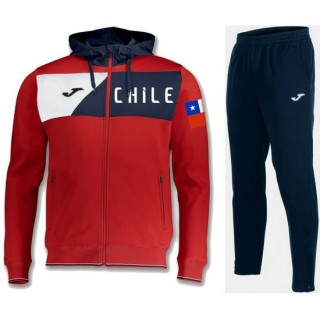 Nouvelle Survetement Football Chili 2018/2019 Capuche Homme Rouge