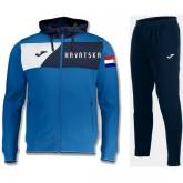Survetement Football Croatie 2018/2019 Capuche Homme Bleu Promo prix