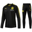 Survetement Football Dortmund BVB Enfant 2017/2018 Noir-2 Nouvelle