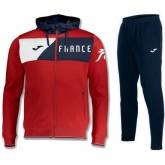 Survetement Football Equipe de France 2018/2019 Capuche Homme Rouge Personnalisé