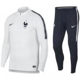 Achat de Survetement Football Equipe de France Enfant 2018/2019 Coupe du Monde Blanc-Marine