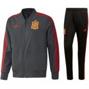 Officielle Survetement Football Espagne 2018/2019 Coupe Du Monde Homme Gris-Noir