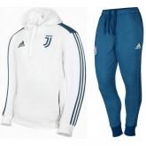 Survetement Football Juventus 2017/2018 Capuche Homme Blanc Original