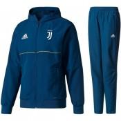 Nouveau Survetement Football Juventus 2017/2018 Capuche Homme Bleu