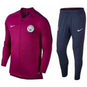 Survetement Football Manchester City 2017/2018 Homme Rouge Soldes