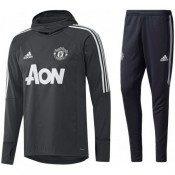 Achat de Survetement Football Manchester United 2017/2018 Capuche Homme Gris-F