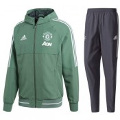 France Survetement Football Manchester United 2017/2018 Capuche Homme Vert