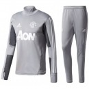 Survetement Football Manchester United 2017/2018 Homme Gris Promos