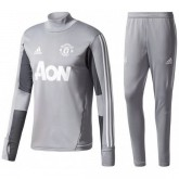 Survetement Football Manchester United Enfant 2017/2018 Gris Faire une remise