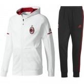 Survetement Football Milan AC 2017/2018 Capuche Homme Blanc Europe