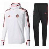 Survetement Football Milan AC 2017/2018 Capuche Homme Blanc Commerce De Gros