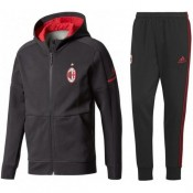 Survetement Football Milan AC 2017/2018 Capuche Homme Noir en Promo