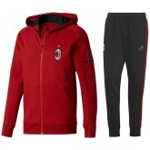 Solde Survetement Football Milan AC 2017/2018 Capuche Homme Rouge