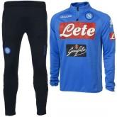 Promotions Survetement Football Naples 2017/2018 Homme Bleu