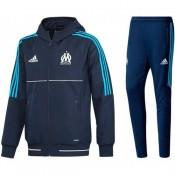 Original Survetement Football OM Marseille 2017/2018 Capuche Homme Marine