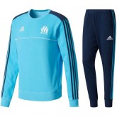 Site Survetement Football OM Marseille 2017/2018 Homme Cyan
