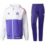 Collection Survetement Football OM Marseille Ligue Des Champions 2017/2018 Capuche Homme Mauve Soldes
