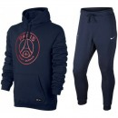 Survetement Football PSG Paris Saint Germain 2017/2018 Capuche Homme Marine Paris Boutique