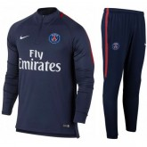Survetement Football PSG Paris Saint Germain 2017/2018 Homme Marine-2 en Promo