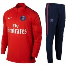 Survetement Football PSG Paris Saint Germain Enfant 2017/2018 Rouge Soldes France