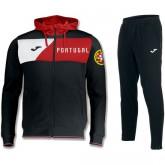 Survetement Football Portugal 2018/2019 Capuche Homme Noir Pas Cher Provence